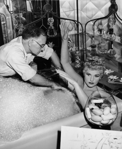 Judy Holliday with George Cukor on the set of Born Yesterday .jpg